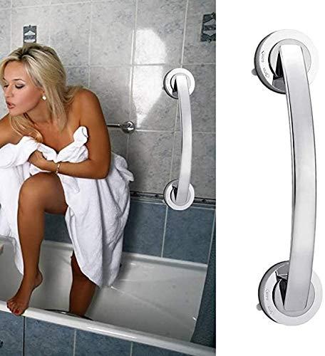VEESYV Barra de Agarre para baño Pasamanos Ventosa Mango Seguridad Baño Ventosa Pasamanos Agarre Baño, Bañera, Barra Ducha, Riel, Accesorios Muebles