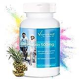 Bromelina 500mg – ¡Bote para 6 MESES! – alta dosificación – vegana – 360 comprimidos – Enzima digestiva de la piña – 1.200 FIP