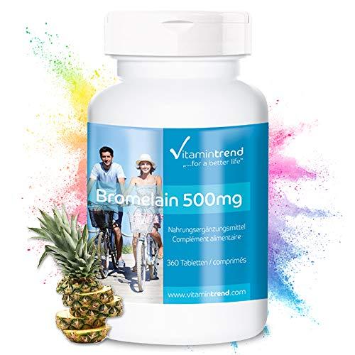Bromelain 500mg - 360 tabletten - ! VOOR 6 MAANDEN ! - veganistisch - ananas enzym