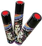Haarspray Color für Fasching und Karneval, Diverse Farben, 100ml höchste Ergiebigkeit (rot)
