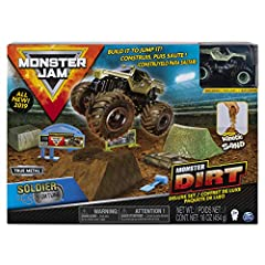 MONSTER DIRT: From the makers of Kinetic Sand comes the all-new, life-like Monster Dirt! This synthetic dirt looks and feels just like what the pros drive through! It's easy to mold and easy to clean MORE WAYS TO PLAY: Design your course any way you ...
