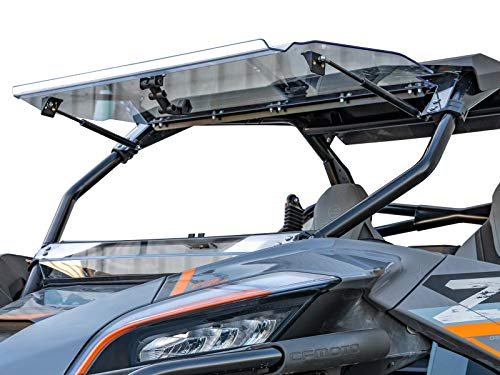 """SuperATV Heavy Duty Scratch Resistant 3-in-1 Flip Windshield for 2020+ CF Moto ZForce 950 