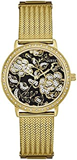 Guess Fashion Watch for Women, Stainless Steel Case, Black Dial, Analog