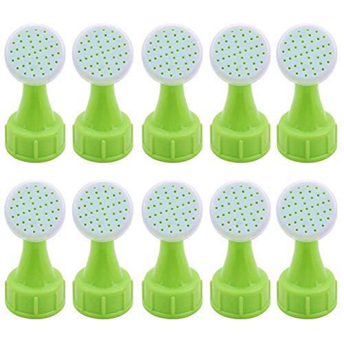 BESLIME 10 Stück Dusche für Gartenarbeit Gießkanne, Gießaufsatz für Flaschen, Pflanze Gießaufsatz, Heimgärtner mit grünem Daumen