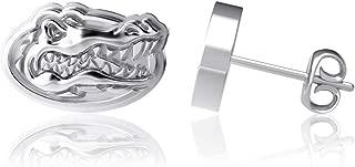 Dayna Designs University of Florida Gators Logo, Sterling Silver Jewelry Rhodium Plated, 10mm Small for Women/Girls