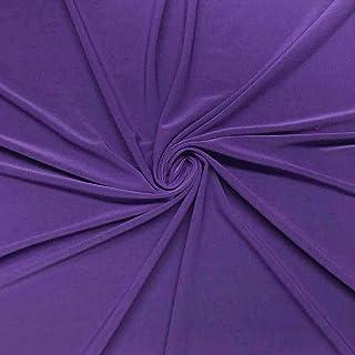 Purple crepe fabric elastic meterware KLT014
