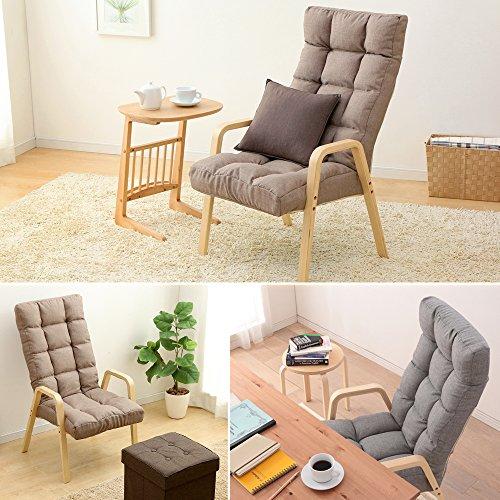 アイリスオーヤマ座椅子ウッドアームチェアLサイズブラウンWAC-L