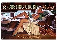 なまけ者雑貨屋 Casting Couch メタルプレート アンティーク な ブリキ の 看板、レトロなヴィンテージ 金属ポスタ