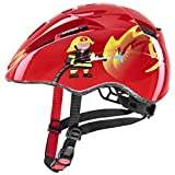 uvex Kid 2 Casco de Bicicleta, Unisex-Youth, Red Fireman, 46-52 cm