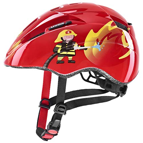uvex Unisex Jugend Kid 2 Fahrradhelm, red Fireman, 46-52 cm