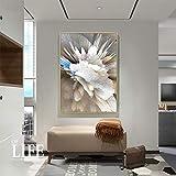 wZUN Arte Abstracto Creativo Colorido Coral decoración de la Sala de Estar Pintura Abstracta geométrica Estilo nórdico Imprimir Arte 60x90 Sin Marco