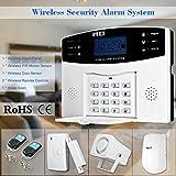 Extaum Wireless gsm SMS Home Antifurto Security Alarm System Rilevatore Kit Sensore Telefono App Telecomando 433MHz 1527