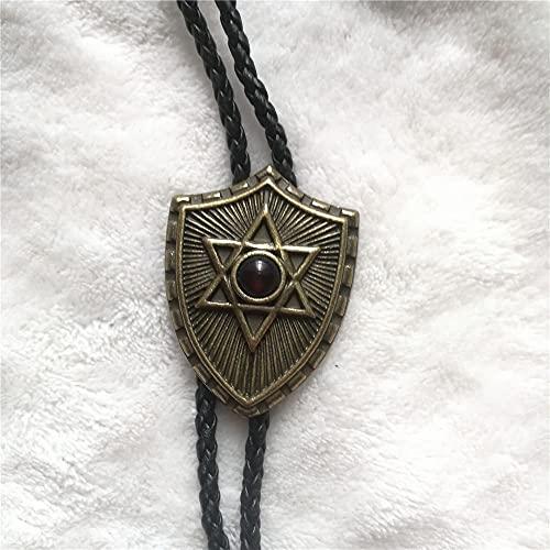 Lztly Corbata bolo Bolo Corbata Camisa Cadena Estrella Cuello Collar Collar Largo Corbata Colgante Vaquero Corbata (Color : Gold)