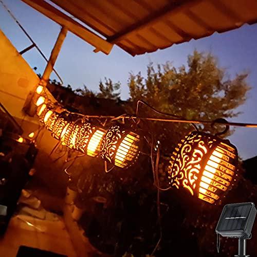 Lichtslingers op zonne-energie, tuinlicht 20ft waterdichte balvlamlantaarn 120 led-slingers buitenverlichting op zonne-energie, decoratieve verlichting voor huis, tuin, feest, festival