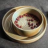 TREEECFCST Servizio di Piatti Piastra Retro Ceramica da tavola delle Famiglie Dinner Plate Pasta Occidentale Piatto Shallow Piastra Colazione Piastra Porcellana e Ceramica