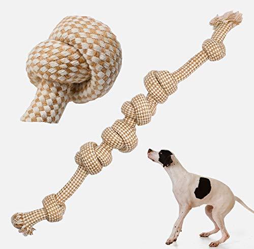 JEANGO Juguetes de Cuerda para Perros Juguetes para Masticar Perros molares de Cuerda para Perros Limpieza de Dientes de Perros Adecuado para Perros pequeños y medianos