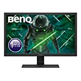 BenQ GL2780 - Monitor Gaming de 27' FullHD (1920x1080, 16:9, 1ms, 75Hz, HDMI 1.4, DisplayPort 1.2, DVI-D, VGA, Altavoces, Eye-care, Sensor Brillo Inteligente, Flicker-free, antireflejos) Color Negro