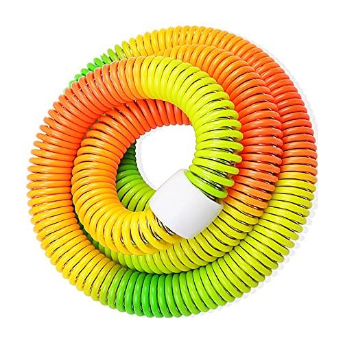 Lyneun Tragbarer Hula Hoop,Weicher Feder-Hula-Hoop,Hula Hoop Reifen & Kinder flexibel Gewichtet 1.2kg multifunktional Fitnessgeräte Für Fitness/Sport/Zuhause/BüRo/Bauchformung(bunt)