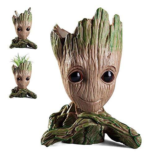WILLBAN Baby Groot Blumentopf Figur aus Guardians of The Galaxy für Stiftehalter Sukkulenten und perfekte Weihnachtsgeschenke für Kinder