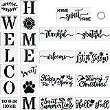 27 Plantillas de Bienvenida, Plantillas de Carteles de Bienvenida para Pintar Sobre Madera, Plantillas de Letras de Carteles de Palabras Reutilizables, para Puerta de Casa, Decoración al Aire Libre