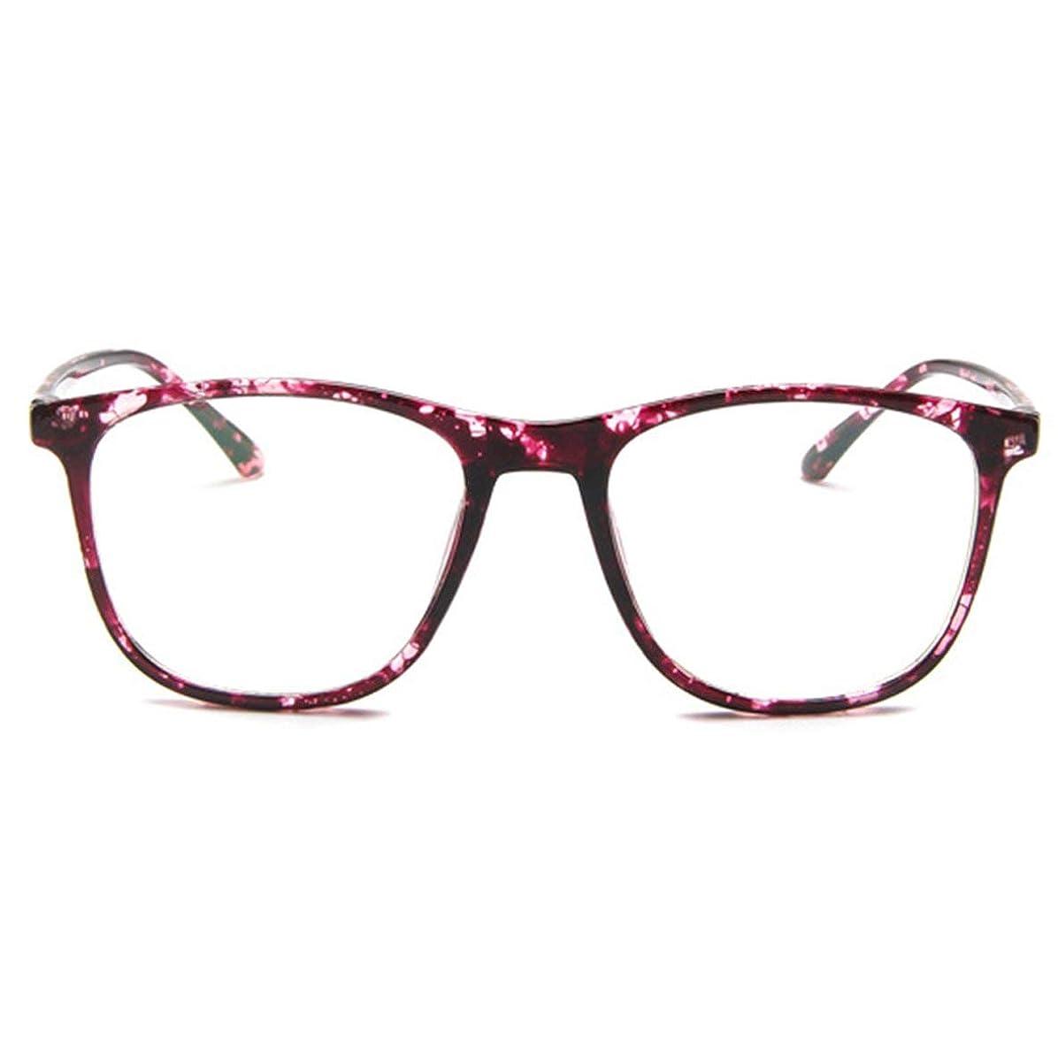 著者ニコチンミシン韓国の学生のプレーンメガネ男性と女性のファッションメガネフレーム近視メガネフレームファッショナブルなシンプルなメガネ-パープル