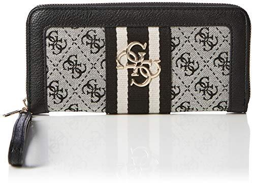Guess Damen Vintage SLG Lrg Zip Arnd Geldbeutel, Weiß (Black), 21x10x2 Centimeters (W x H x L)