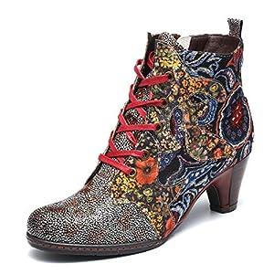 gracosy Botines de Mujer 2019 Cuero Invierno Tacon Alto Moda Urbana Suela Blanda En El Medio Botas Botines Chelsea Botas… | DeHippies.com