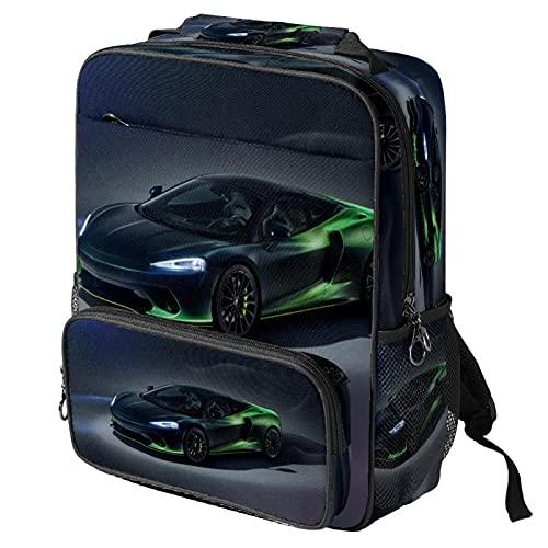 Xingruyun Mochilas Escolares Carro Bolso de Escuela Adolescente Impermeable Daypack impresión Backpack Para niños y niñas 36.5x29x12 cm