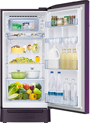 Samsung 198 L 4 Star Inverter Direct-Cool Single Door Refrigerator (RR21T2H2XCR/HL, Camellia Purple, Base Stand with Drawer) 5