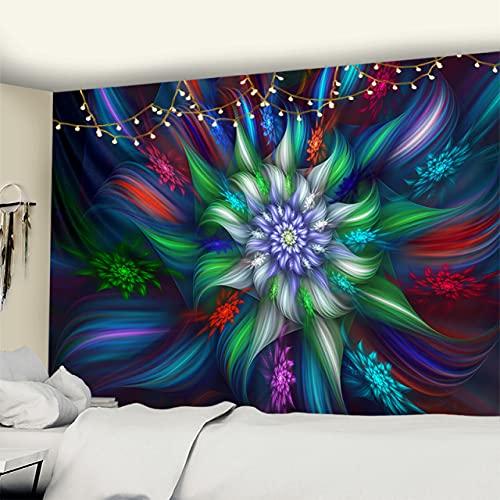 RichAmazon Tapiz de mandala para colgar en la pared india 3D jade decoración del hogar sala de estar fondo alfombra de pared tela hippie manta gt321-6,95x70cm