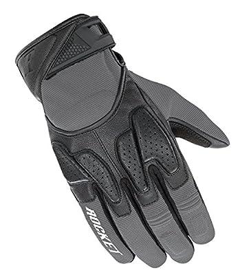 Joe Rocket Men's Atomic X2 Hybrid Motorcycle Glove (Grey/Black, X-Large)