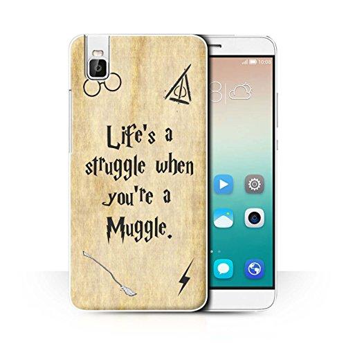 Hülle Für Huawei Honor 7i/ShotX Schule der Magie Film Zitate Life's a Struggle Design Transparent Ultra Dünn Klar Hart Schutz Handyhülle Hülle