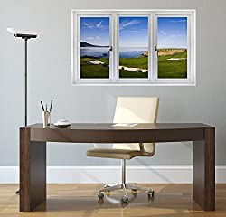 Golf Course Window View - Wall Decal