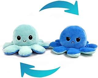 Octopus Plush Doll, Double‑Sided Flip Octopus Stuffed Animals Plush Toys, Reversible Octopus Animal Lovely Gift Creative Toys