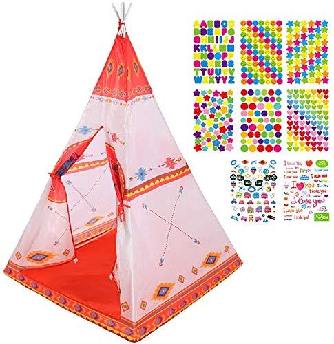 Mgee Tienda de Cama Infantil, Tiendas de Ensueño, Pop up Tienda, Carpa Juego Plegable Mágica para Niños, Regalos De Cumpleaños (D-Tipi)