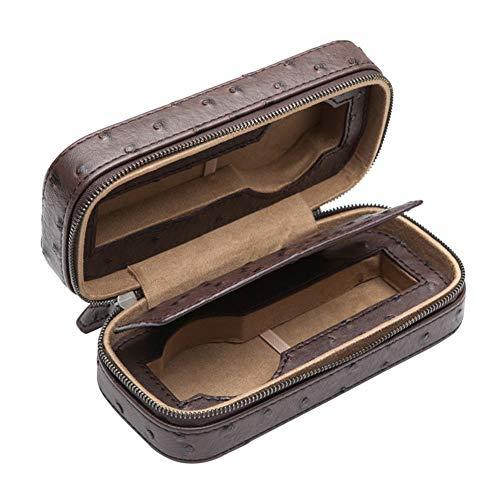 ZHAYEUK ZHAYEUK Mini Leder Uhrenbox Uhrenkoffer 2 Uhren Einzel for Herren Damen, Groß Uhrenkasten männer Kasten Uhren Uhrenaufbewahrung for den Ehemann, (Farbe: Braun, 18 x 8 x 6 cm)