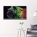 YIYEBAOFU Estampado de Leopardo fotografía de Moda Impresiones en Lienzo y pósters decoración de Habitaciones para Damas Carteles de Cocina calcomanías Decorativas de par 40X50cm(Sin Marco)
