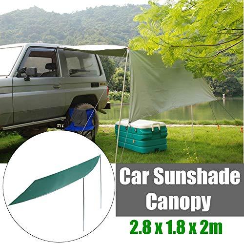 W&TT Auto-Zelt-Falten-Sonnenschutz im Freien Carports-wasserdichte kampierende Dachzelt-Anti-Uv-Überdachung Sun Shelter tragbare Markise Größe 2,8 x 1.8m,Green