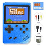 TTSAM Handheld Games Console for Kids Adults Retro FC Video Games Consoles 3 inch Screen 400 Classic Games Player (Blue)