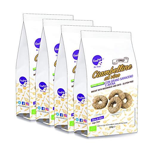 4 confezioni di CIAMBELLINE AL VINO con grano saraceno e avena 200g (Senza glutine) - FOODUP