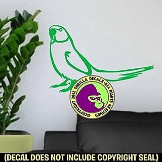 The Gorilla Farm Wall Decal Indian Ringneck Bird Parakeet Parrot Art Wall Living Room Kitchen Large Vinyl Sticker Sign Green
