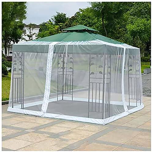 Netting se adapta a los gazebos, cubierta de patio de la pantalla de malla de la mesa de paraguas para el patio al aire libre para la mesa del patio con cremallera 300 * 230 cm