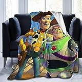 N \ B Toy Story Überwurfdecken, Tagesdecken, Fleecedecken, weiche Korallen-Bettdecke für Schlafzimmer, Wohnzimmer, Sofa, Couch, 127 x 101 cm