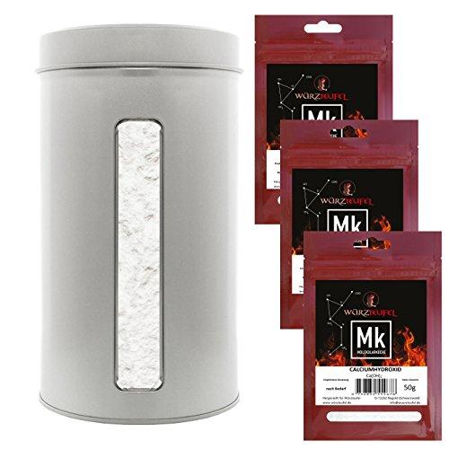 Konjak - Nudeln, Shirataki-Nudeln. Sparpackung Nr.6 Konjak - Glucomannan XL Gastro - Dose 900g. & Kalziumhydroxid (Calciumhydroxid) 3 Beutel je 50g.