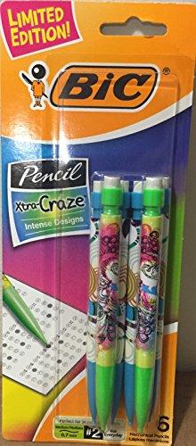 Bic Xtra Craze Intense Design Mechanical Pencils 6 Pack