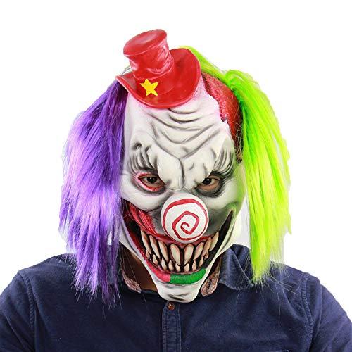 LXIANGP Máscara de látex Halloween Red Riding Hood Bar Habitación Escape Mot Ghost Mask
