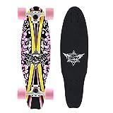 BD.Y Monopatín 27 'Tabla pequeña de Pescado para Mujer Mini patineta Cruiser Completa Tabla de Arce de 7 Capas Mini...
