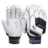 KOOKABURRA Batting Gloves, 2020 Shadow PRO-Guanti da Battuta, Mano Sinistra Unisex-Adulto, Bianco, Over Sized Left Hand