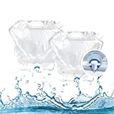 TIYASTUN Collapsible Water Container Bag with Spigot (2 Pack 3.2 Gallon/12L) BPA Free Plastic Water Carrier Camping, Outdoor Folding Water Bag, Collapsible Water Jug Camping, No-Leak Freezable