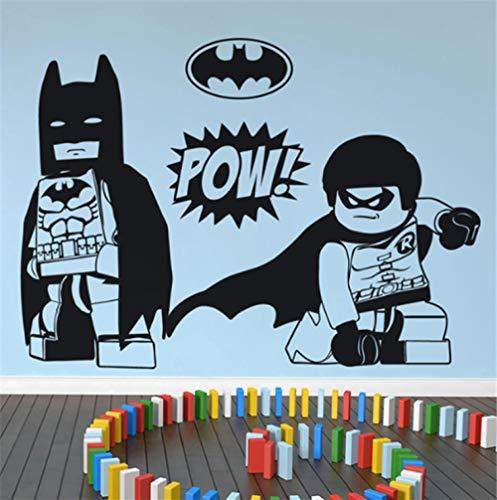 Effekt Wandtattoo- Lego Batman Cartoon Anime 100X130Cm/Aufkleber/Durchbruch/Selbstklebendes Wandbild/Wandsticker/Stein/Wanddurchbruch/Wandaufkleber/Tattoo